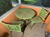 Retro Mid Century Metal Patio Table and 2 Chairs