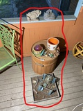 Group lot of assorted outdoor decorative items