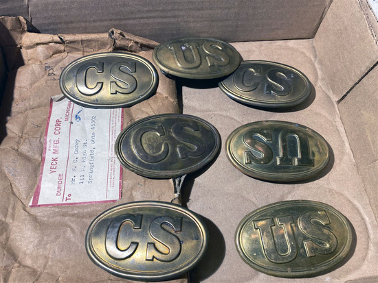 Lot of vintage c. 1960 replica Civil War Buckles