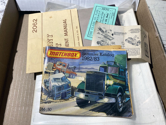 Lot of assorted paper including military, toys, Conan script