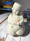 Vintage Dutch Boy Ceramic Cookie Jar