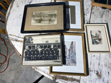 Pittsburgh Firemen, Toronto tour bus photos, framed prints