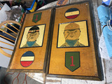 2 c. 1950 Big Red 1 Army Military Wooden Placards