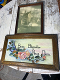 2 Pittsburgh Framed Pieces - Steel Mill and Polish Greeting