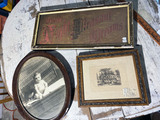 Group lot of c. 1900 framed pieces