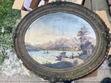 18th Century Oil on Canvas Painting in Frame
