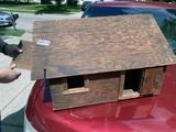Handmade Antique Wooden Garage for Toy Trucks