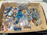 Large lot assorted vintage costume jewelry