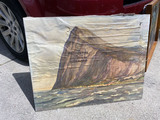 Oil on Canvas Painting of Rock of Gibraltar - Prudential Insurance