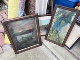 Group lot of antique art pieces