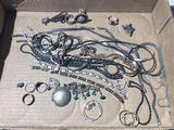 Lot of mostly sterling silver vintage jewelry