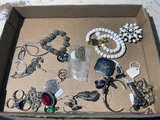 Lot of costume jewelry including sterling silver