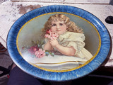 Nice c. 1900 lithographed metal tray