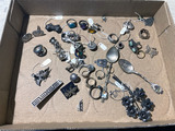 Flat lot of assorted jewelry including sterling silver