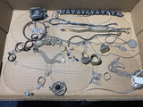Large lot of vintage, antique mostly sterling silver jewelry