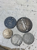 Group lot of American silver Type Coins and more