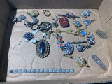Group Lot of Assorted Costume Jewelry Including Cinnabar