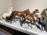 Group lot of assorted Briar style horses