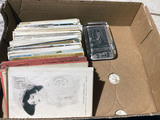 Lot of antique postcards, greeting cards PLUS paperweight