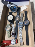 Box of assorted watches including repro high end
