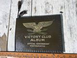 Victory Club WWII Military Album w/Folky Drawings Inside
