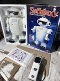 Vintage 1980s Robot Toy Sir Galaxy in Box Works