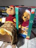 2 larger sized animatronic Winnie The Pooh Toys