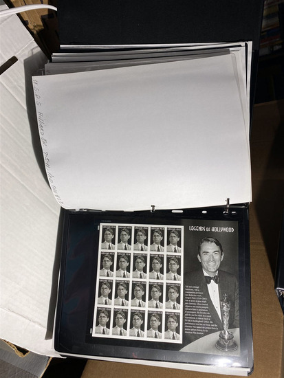 Album lot of US Stamp Sheets