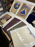 Group lot high quality printers samples - Art Deco