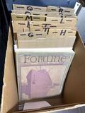 Box of Assorted Ephemera, Fortune Magazine, others