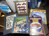Group lot assorted racing items - Antique