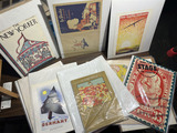 Group lot assorted prints, magazine covers etc