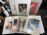 Group lot assorted magazine covers, prints, advertising etc