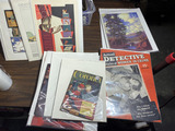 Group lot of assorted paper Detective Magazine, Antiques, older items