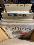 Box lot assorted magazines, covers - Antique