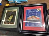 2 Framed advertising prints Buick - Marmon