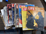 Group lot of Vintage Life magazines and more.