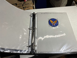 Group lot military, WWII items in binder
