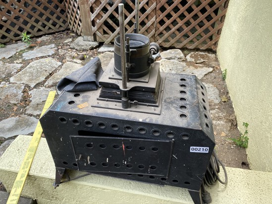 Antique projector with brass lens
