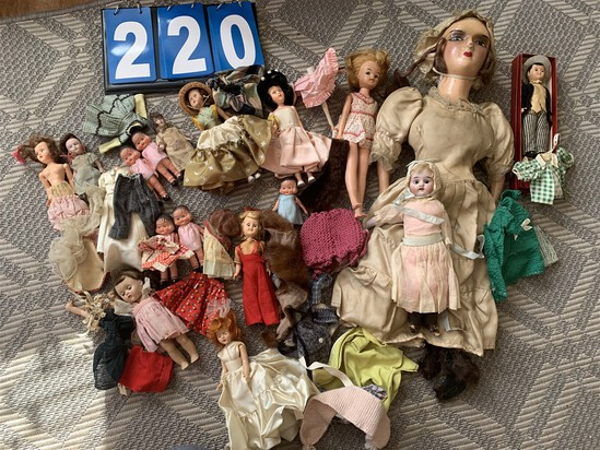 Large group lot of antique dolls