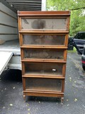 Antique 5 section barrister bookcase