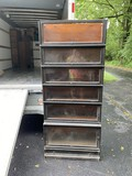 6 section barrister bookcase, base with drawer