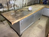 Giant industrial workbench with Large butcher block top