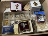 Box lot assorted jewelry inc. gold and silver