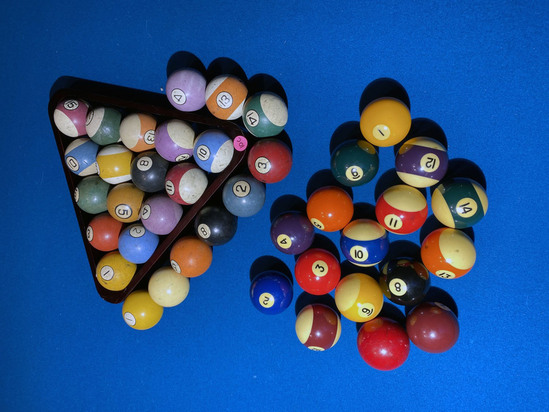 Group lot of Antique, vintage billiard balls