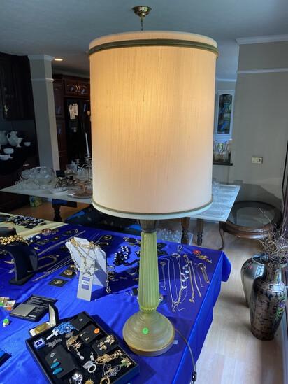 Vintage Mid Century Modern Green Murano Glass lamp