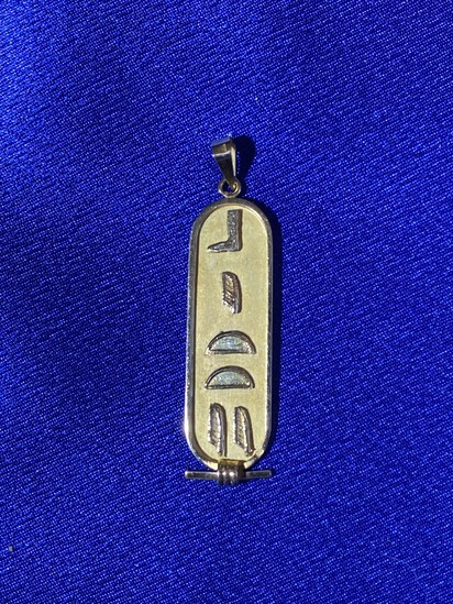 18k gold Egyptian pendant - 3.51 grams