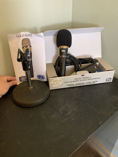 Gold Elite Duel Element Studio Microphone