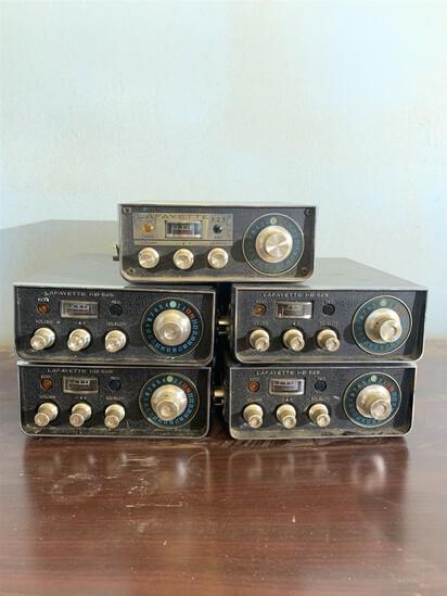 5 Lafayette HB 525 CB Radios
