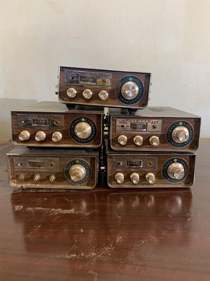 5 Lafayette 625 CB Radios